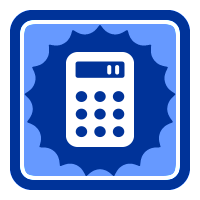Badge Calculating with a calculator